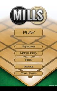 iMills Main Menu