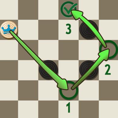 Multi Capture Move: King